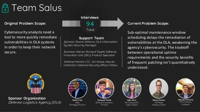Current Problem Scope: Sub-optimal maintenance window scheduling delays the remediation of vulnerabilities at the DLA, wea...