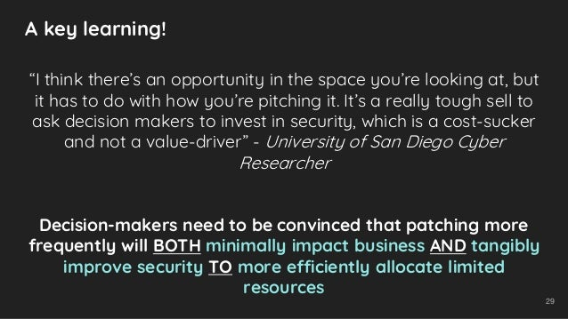 """29 """"I think there's an opportunity in the space you're looking at, but it has to do with how you're pitching it. It's a re..."""