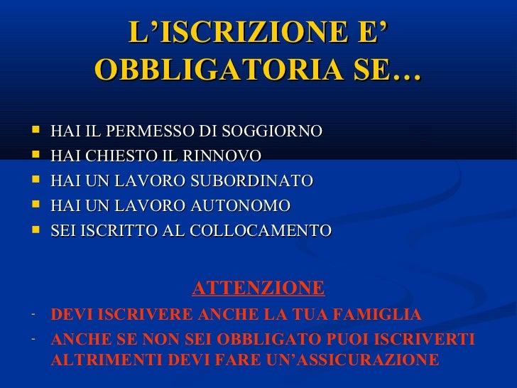 Diventare italiani salute e assistenza sociale for Assicurazione sanitaria permesso di soggiorno assitalia