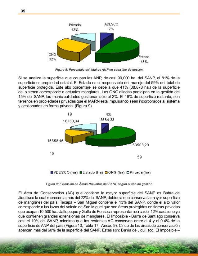 35 Figura 8: Porcentaje del total de ANP en cada tipo de gestión Si se analiza la superficie que ocupan las ANP, de casi 9...