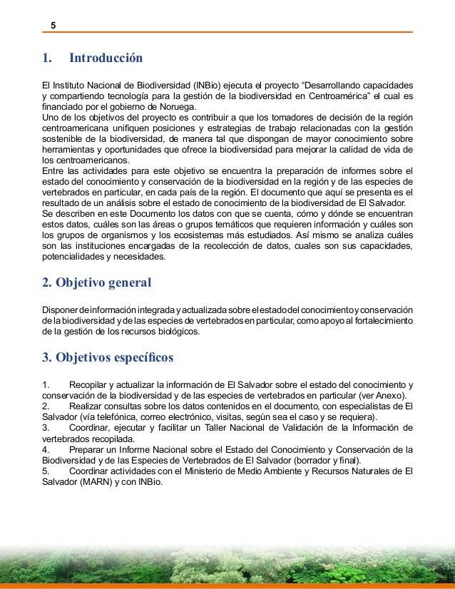 """5 1. Introducción El Instituto Nacional de Biodiversidad (INBio) ejecuta el proyecto """"Desarrollando capacidades y compart..."""