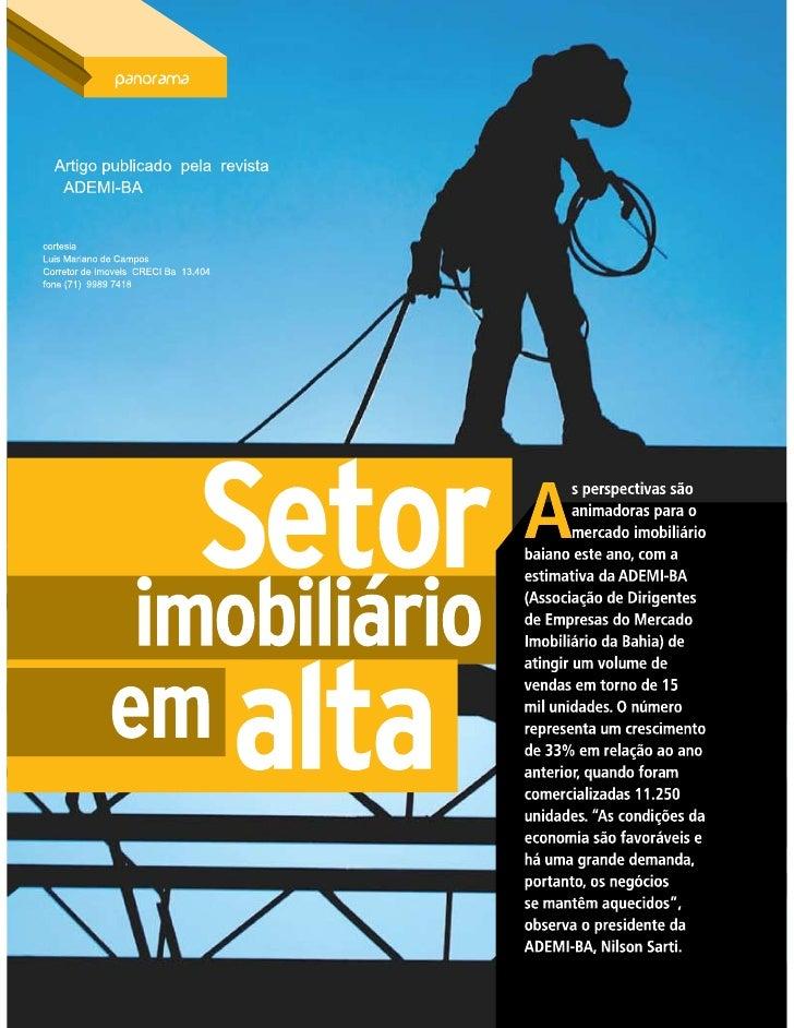 Salvador   setor imobiliario em alta