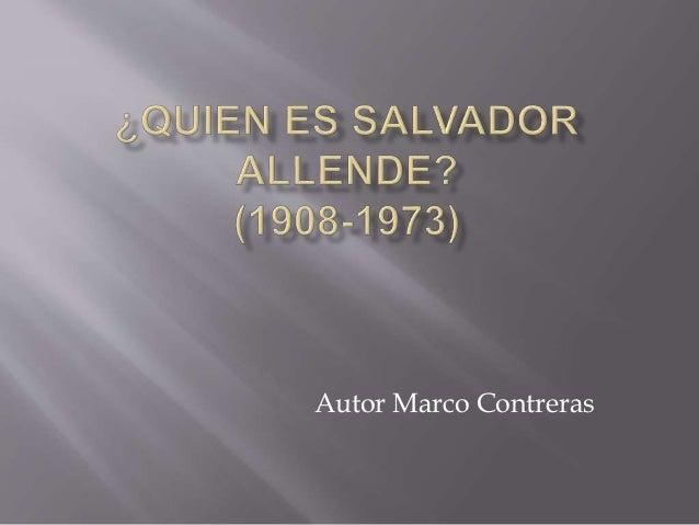 Autor Marco Contreras