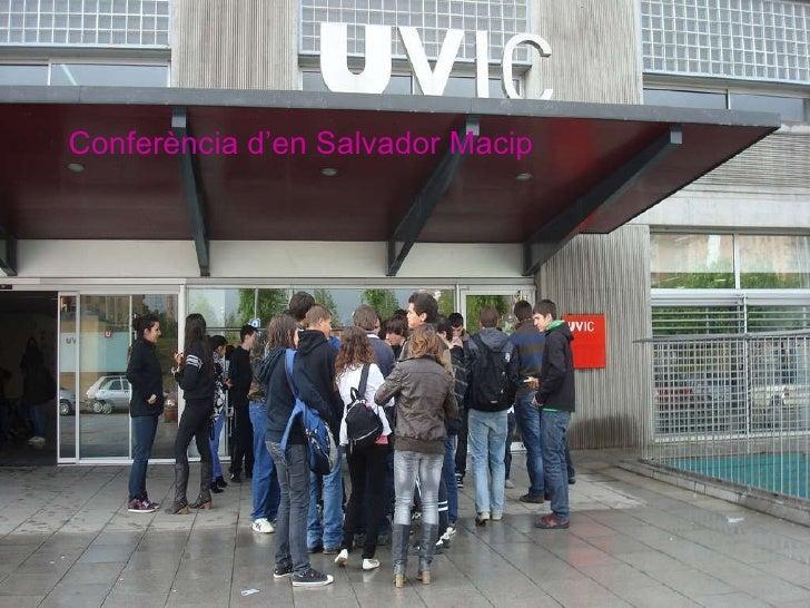 Conferència d'en Salvador Macip