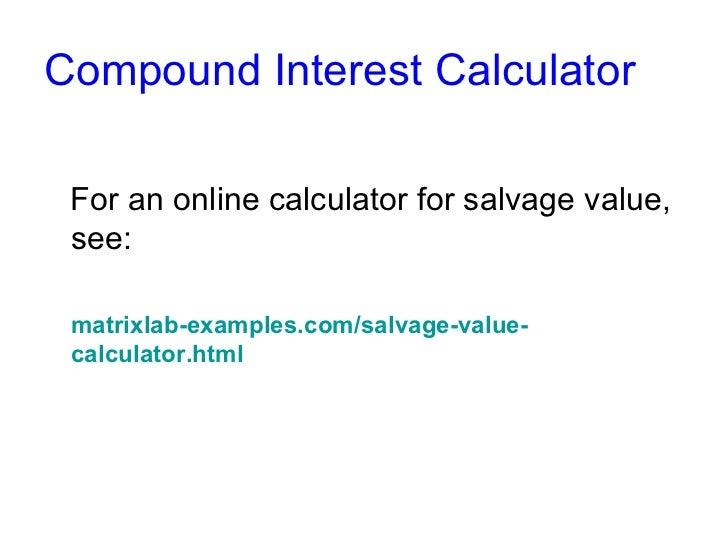 Car Depreciation Calculator >> Salvage Value Calculation
