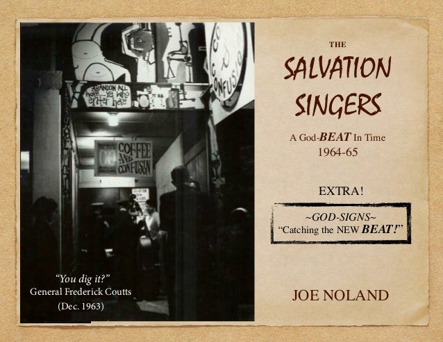 "THE SALVATION SINGERS A God-BEAT In Time 1964-65 JOE NOLAND ~GOD-SIGNS~ ""Catching the NEW BEAT!"" ""You dig it?"" General Fre..."
