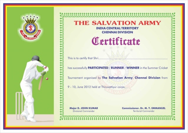 Sports certificate images galleries for Certificate of salvation template