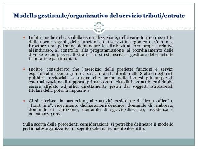La gestione dei tributi locali in forma associata for Programmazione e gestione dei servizi educativi