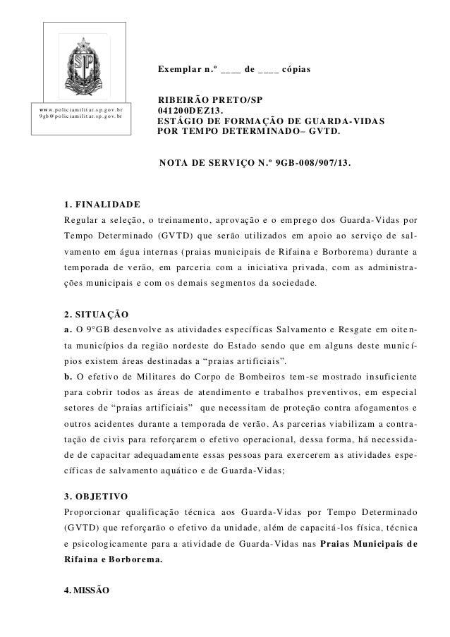 Exemplar n.º ____ de ____ cópias  www. polic ia militar.s p. gov. br 9gb@polic ia milita r.sp. gov. br  RIBEIRÃO PRETO /SP...