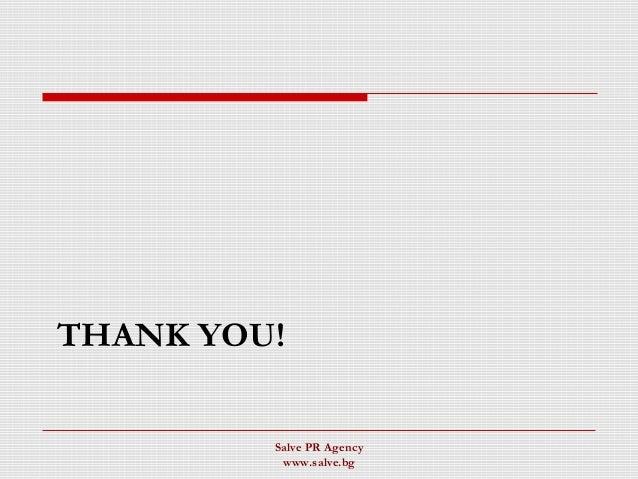THANK YOU! Salve PR Agency www.salve.bg