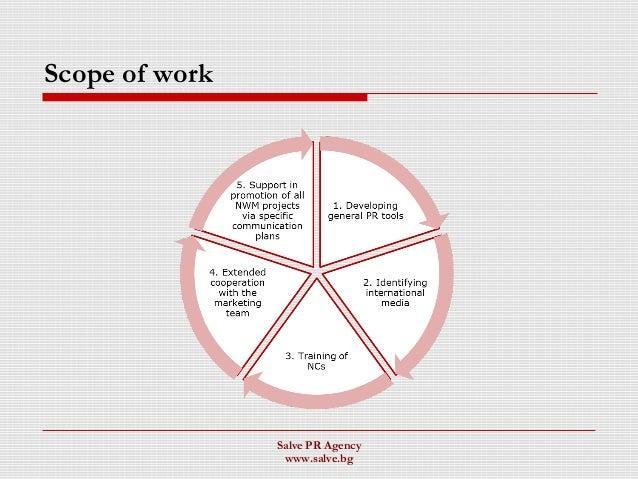 Scope of work Salve PR Agency www.salve.bg