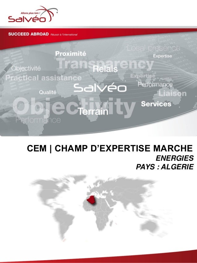 Groupe SALVEO - Champs d'Expertise Marche – Energies Algerie 2013/2014