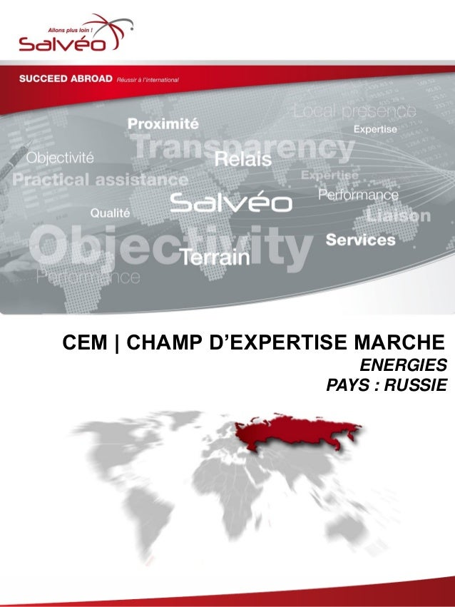 CEM   CHAMP D'EXPERTISE MARCHE ENERGIES PAYS : RUSSIE