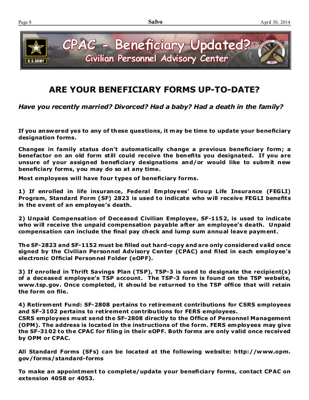 Watervliet Arsenal Newsletter The Salvo 30 April 2014