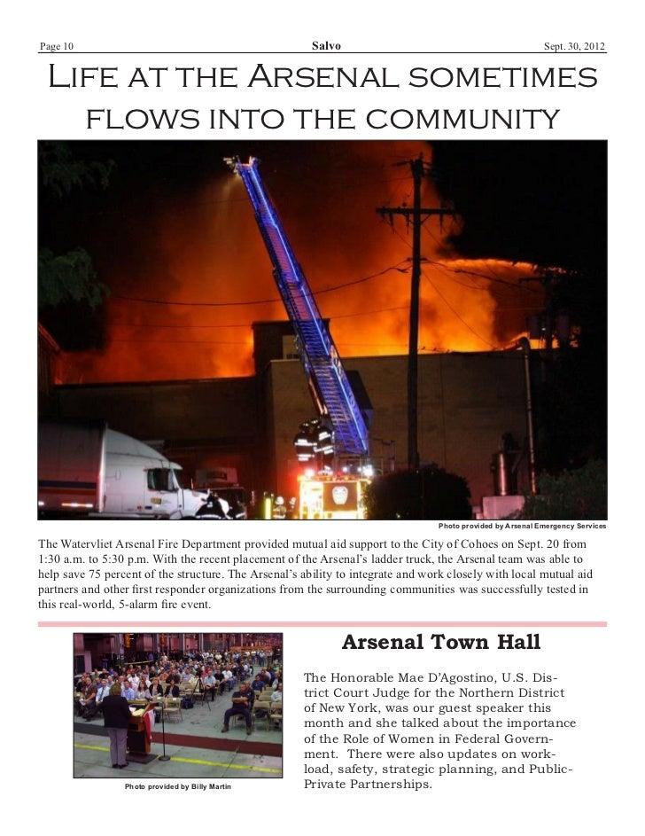 Watervliet Arsenal's Newsletter: Salvo 30 September 2012