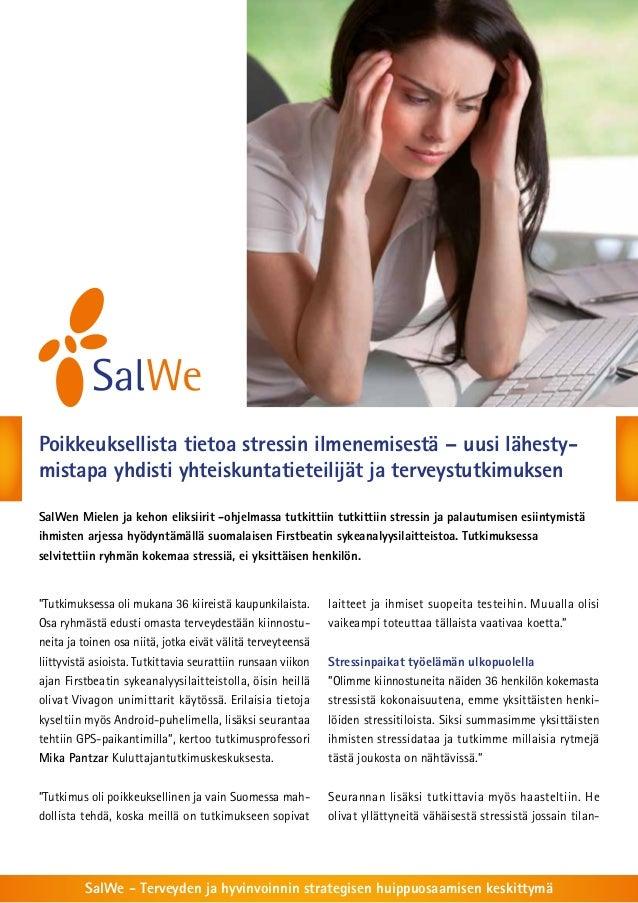 Poikkeuksellista tietoa stressin ilmenemisestä – uusi lähestymistapa yhdisti yhteiskuntatieteilijät ja terveystutkimuksen ...
