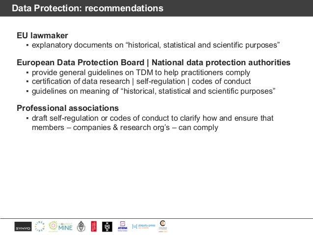 """Data Protection: recommendations EU lawmaker ▪ explanatory documents on """"historical, statistical and scientific purposes"""" ..."""