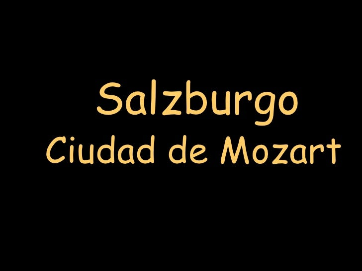 SalzburgoCiudad de Mozart