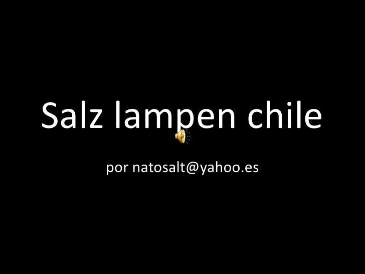 Salzlampen chile<br />por natosalt@yahoo.es<br />