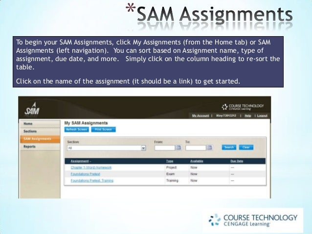 sam assignments