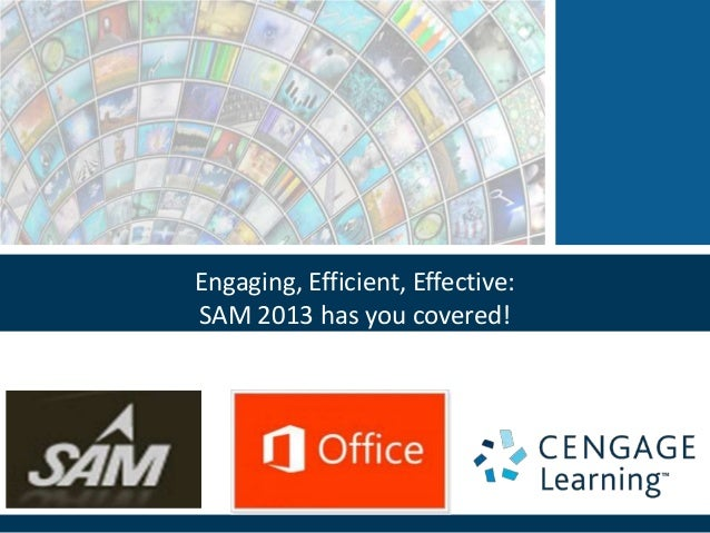 Engaging, Efficient, Effective:SAM 2013 has you covered!