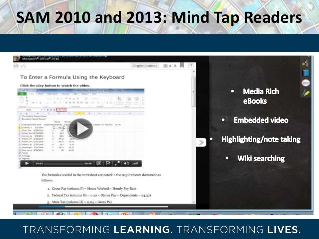 Cengage learning digital road shows 2013 sam sam 2010 and 2013 mind tap readers fandeluxe Choice Image