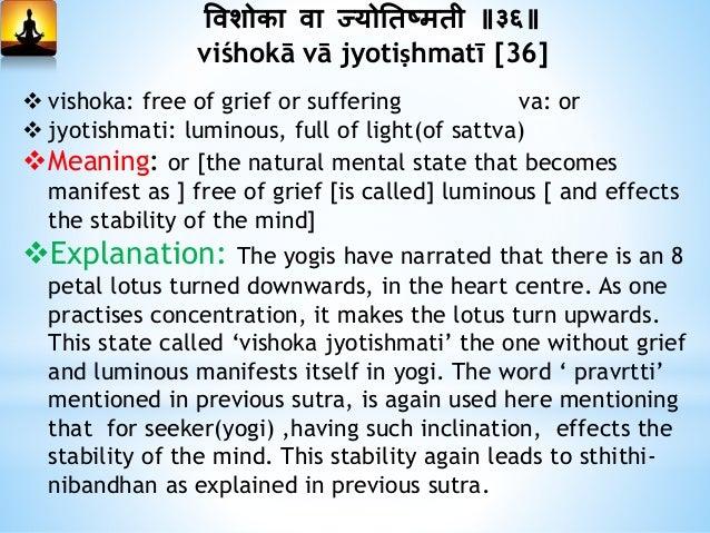 वीतराग त्तवषयम् वा धित्तम् ॥३७॥ vītarāga viṣhayam vā chittam [37]  vita: devoid of raga: attraction, attachment  vishaya...