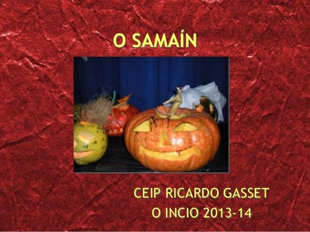 O SAMAÍN  CEIP RICARDO GASSET O INCIO 2013-14