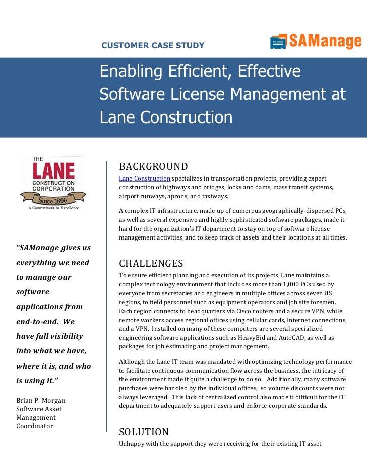 CUSTOMER CASE STUDY                          Enabling Efficient, Effective                        Software License Managem...