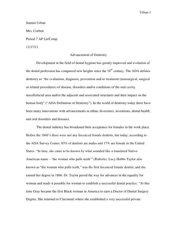 urban study essay Social sciences essay: urban field study and analysis.