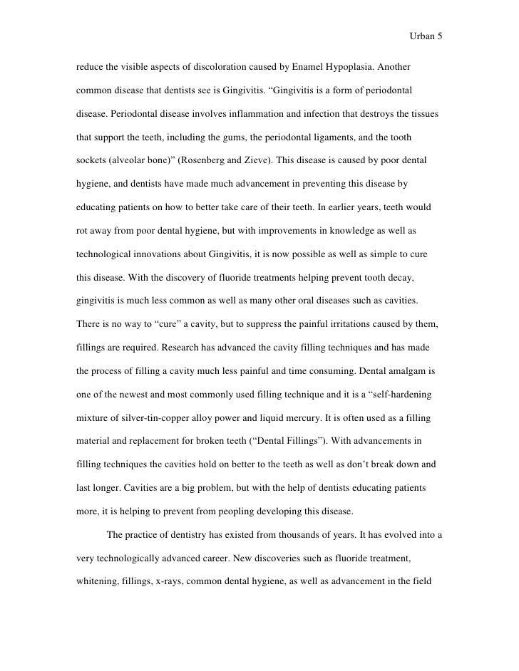 dental hygiene observation essay examples