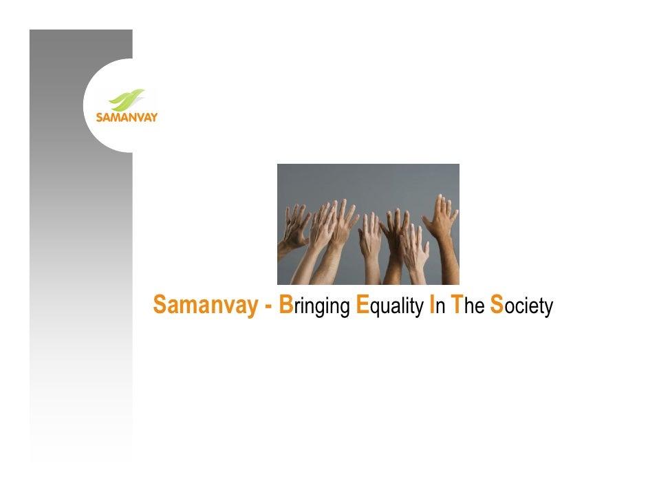 Samanvay - Bringing Equality In The Society