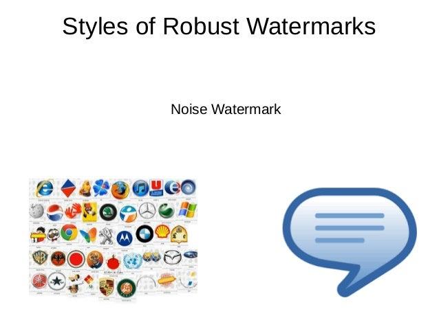 digital watermarking paper presentation