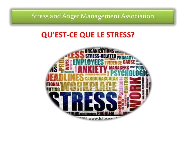 Stress andAnger Management Association QU'EST-CE QUE LE STRESS?
