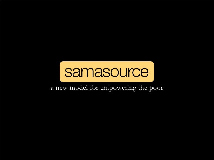 samasource a new model for empowering the poor