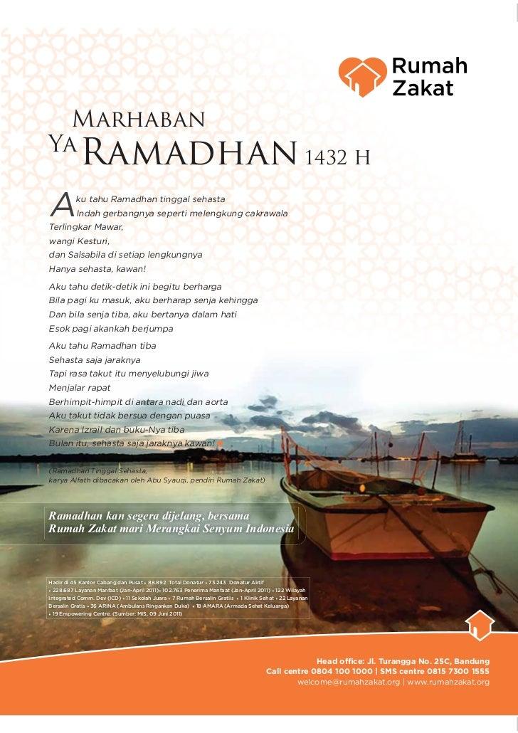 MarhabanYa            Ramadhan 1432 HA         ku tahu Ramadhan tinggal sehasta          Indah gerbangnya seperti melengku...