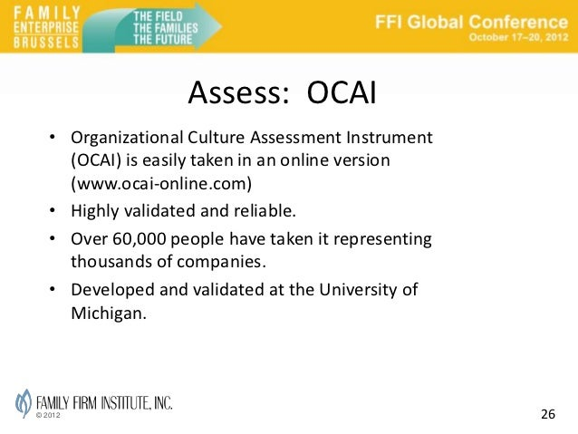 organizational culture assessment instrument template - culture change for changing times family firm institute
