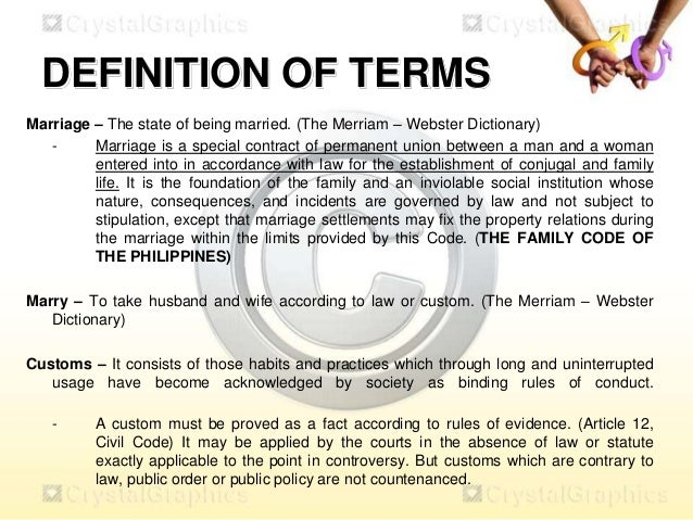 Derivation of gay meaning homosexual marriage