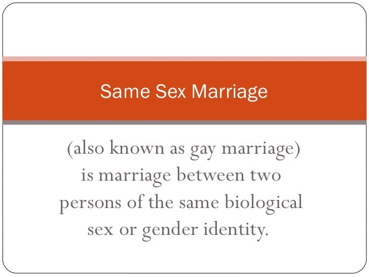 Why Gay Marriage Should Not Be Legalized 6