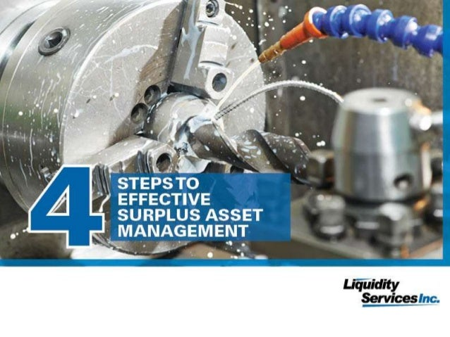 Grab your copy of the ebook  1  To download the full version of our ebook, visit  4 Steps to Effective Surplus Asset Manag...