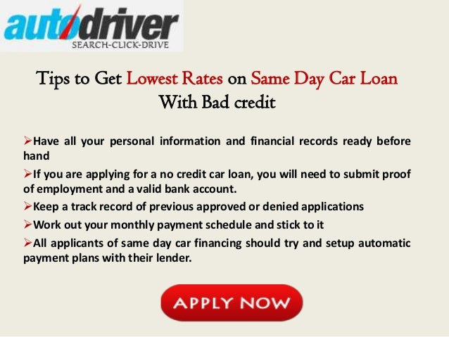 Best Bad Credit Car Loans Insatnt