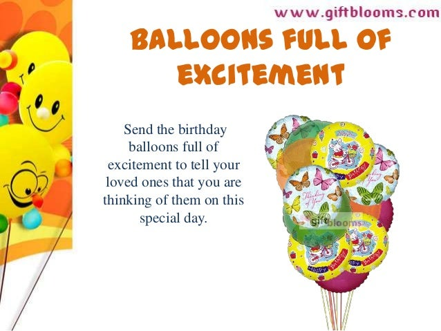 Balloons Full OfexcitementSend The Birthdayballoons