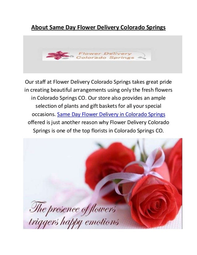 Same day flower delivery in colorado springs co about same day flower delivery colorado springs our staff at flower delivery colorado springs takes great mightylinksfo