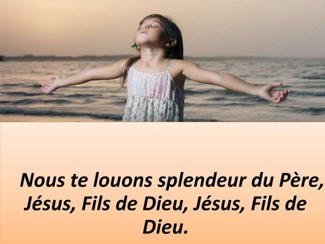 Amour infini de notre Père, Suprême témoignage de tendresse, pour libérer l'esclave, tu as livré le Fils ! Bienheureuse fa...