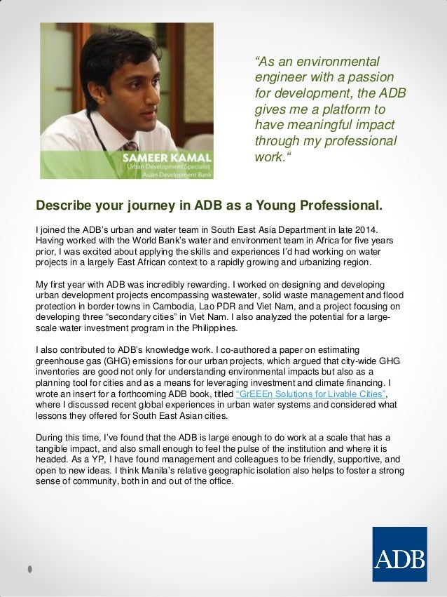 sample essay for world bank ypp