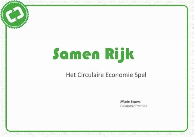 Samen rijk - Het Circulaire Economie Spel