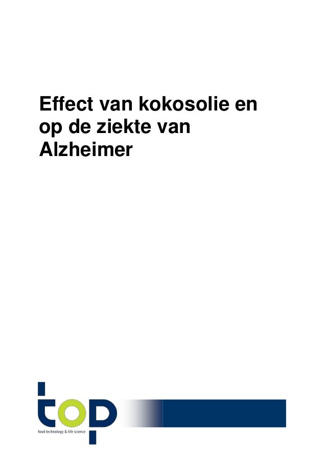 Effect van kokosolie en op de ziekte van Alzheimer