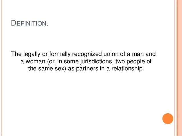 Homosexual union meaning