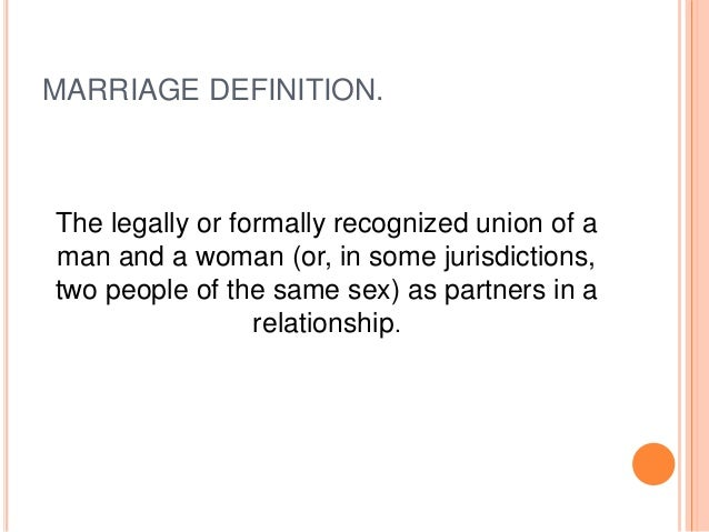 Definition of gay marriage pics
