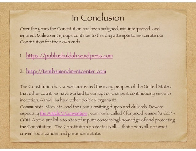 Conclusions of same sex marriages